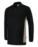 Tricorp polosweater bi-color Black grey_