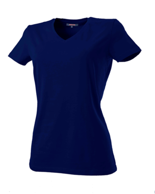 DAMES T-SHIRT V-HALS 190 GRAMS