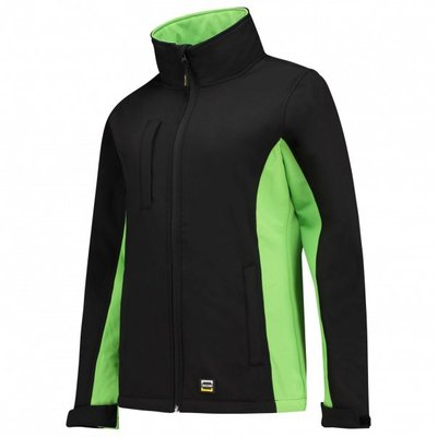 Softshell jas bi-color dames