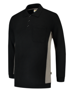Tricorp polosweater bi-color Black grey